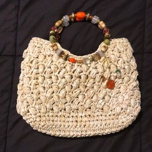 Cappelli Straw World Jeweled Ring Tote